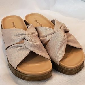 Donald Pliner Freea Wedge Sandals - Gold